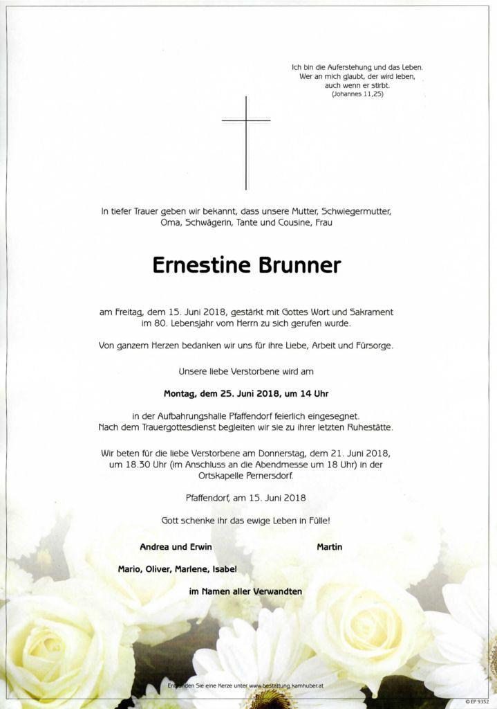thumbnail of Parte Ernestine Brunner