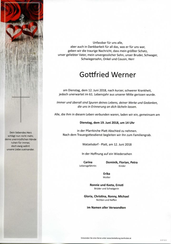 thumbnail of Parte Gottfried Werner