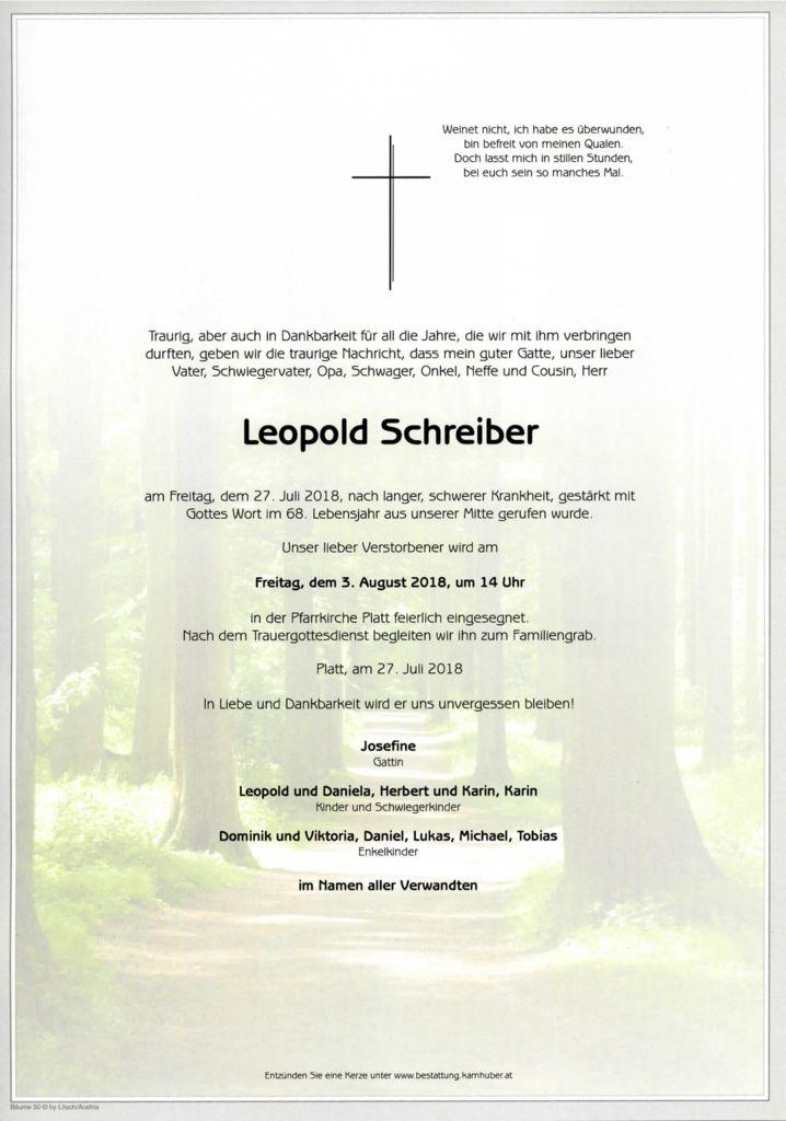 thumbnail of Parte Leopold Schreiber