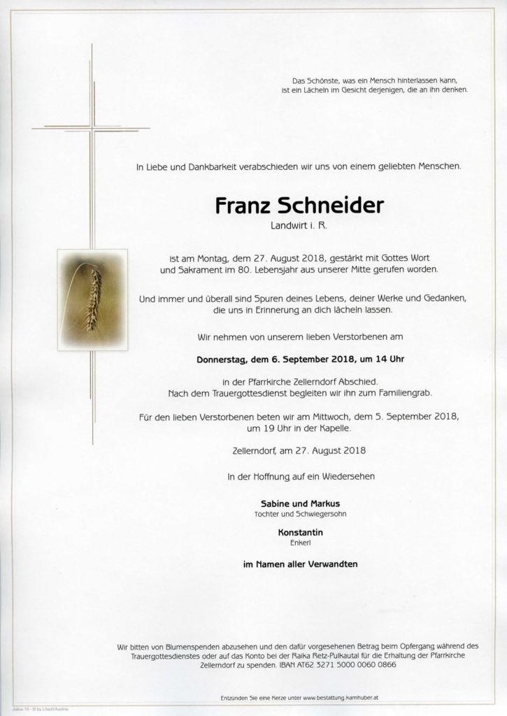 thumbnail of Parte Franz Schneider