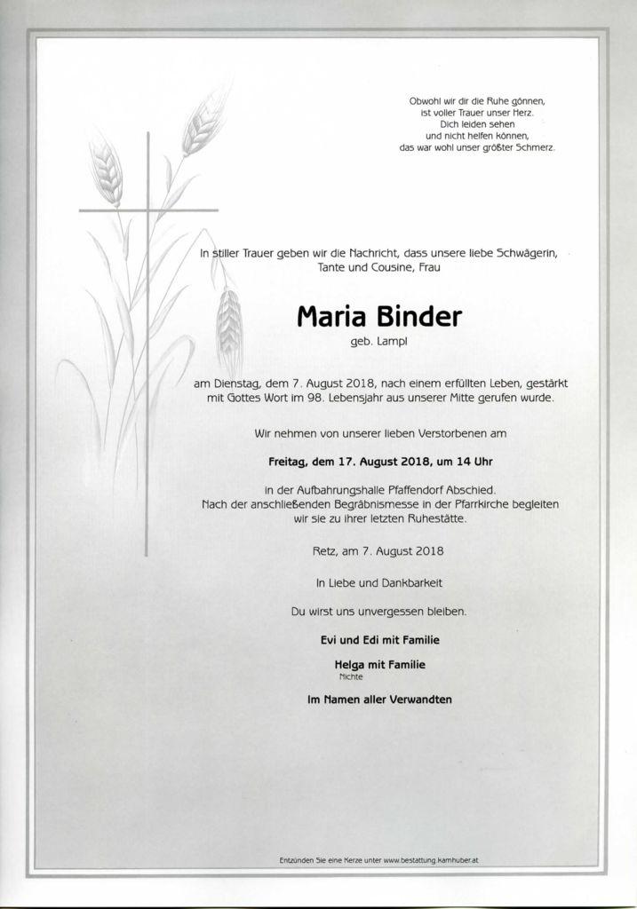 thumbnail of Parte Maria Binder