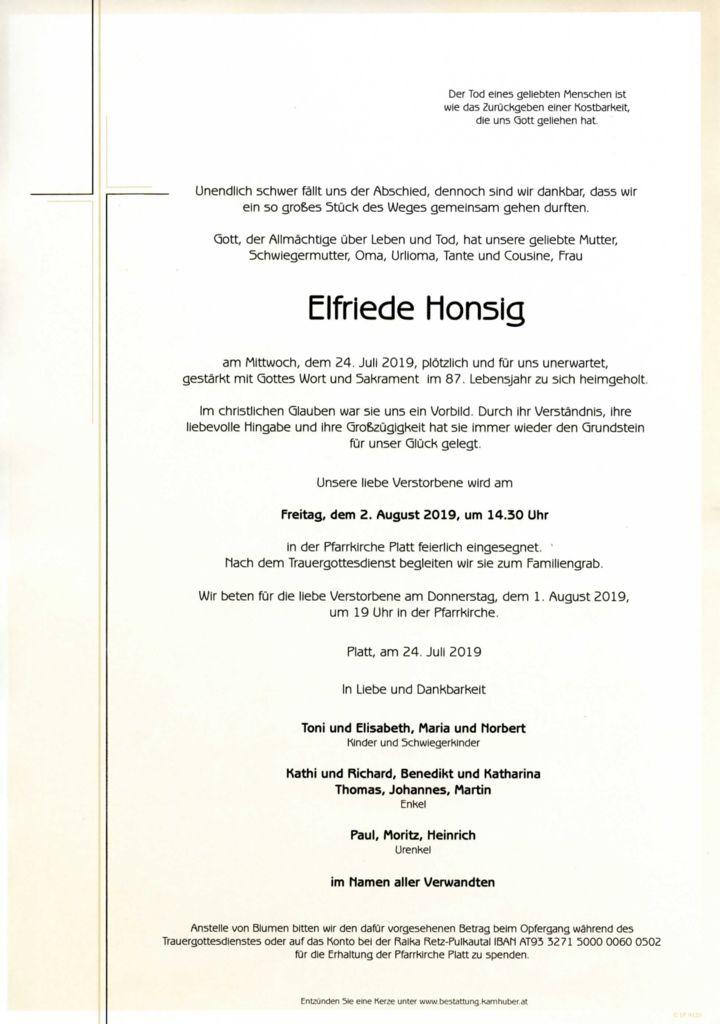 thumbnail of Parte Elfriede Honsig