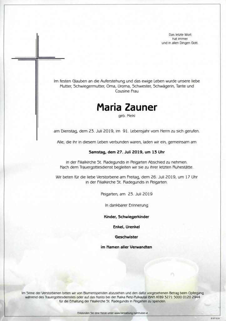 thumbnail of Parte Maria Zauner