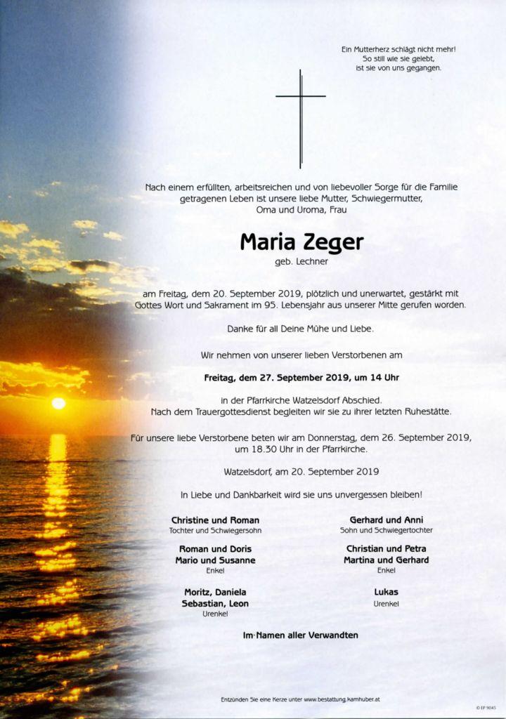 thumbnail of Parte Maria Zeger