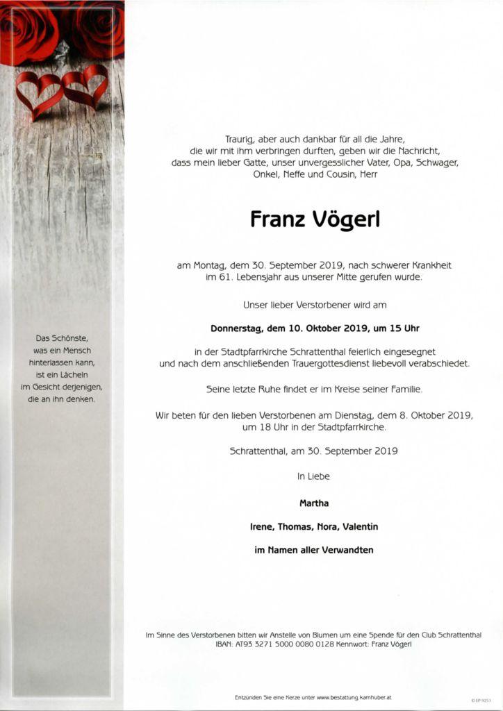 thumbnail of Parte Franz Vögerl