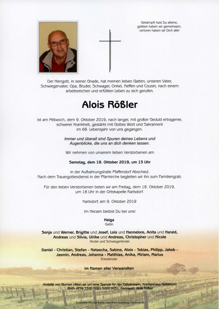 thumbnail of Parte Rößler Alois