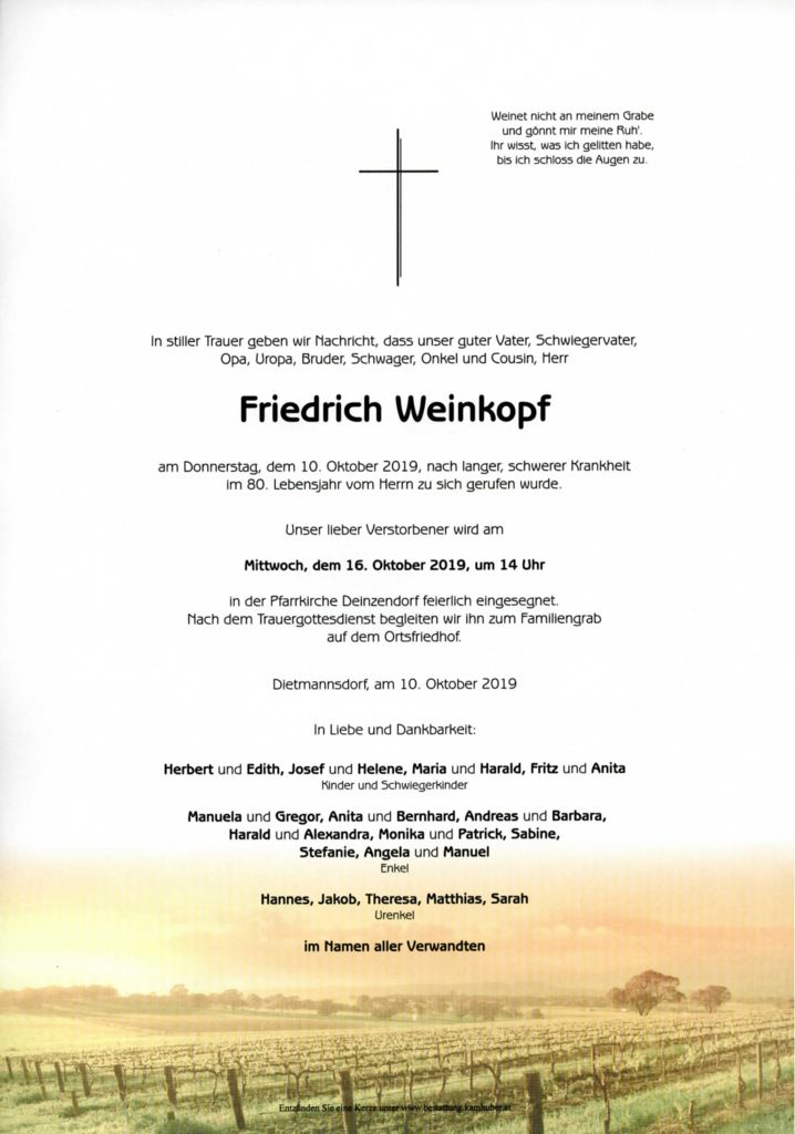 thumbnail of Parte Weinkopf Friedrich