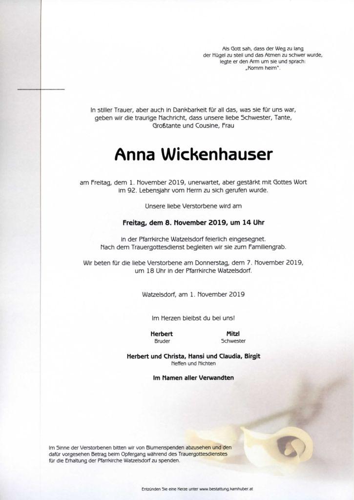 thumbnail of Parte Anna Wickenhauser