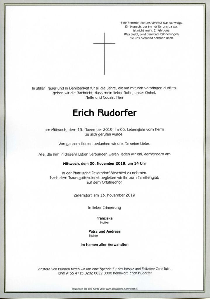 thumbnail of Parte Erich Rudorfer