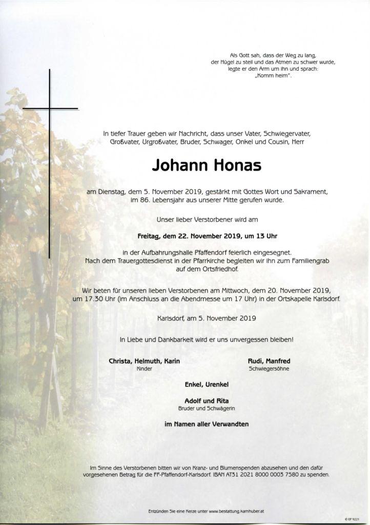 thumbnail of Parte Johann Honas