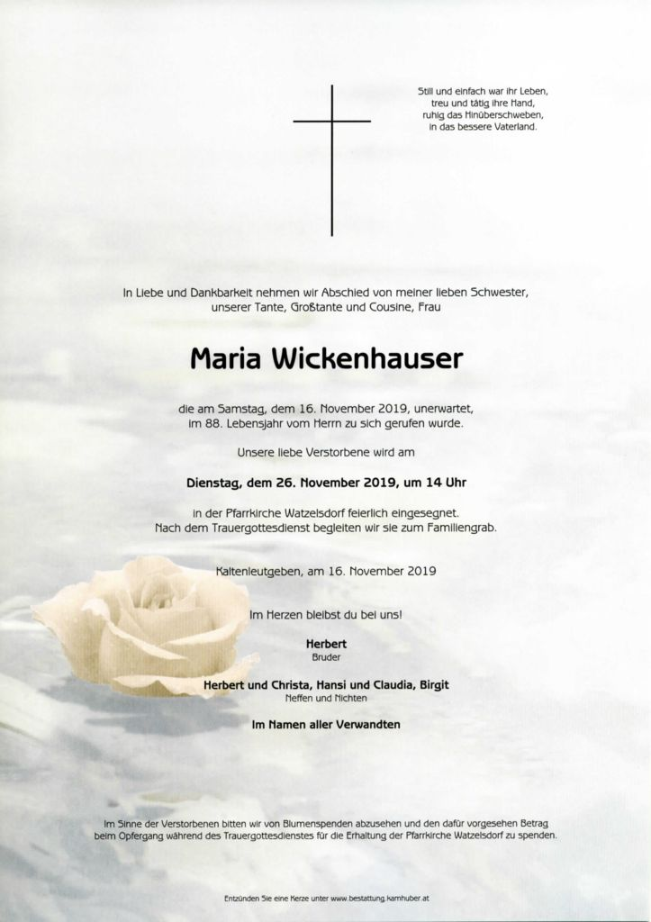 thumbnail of Parte Maria Wickenhauser