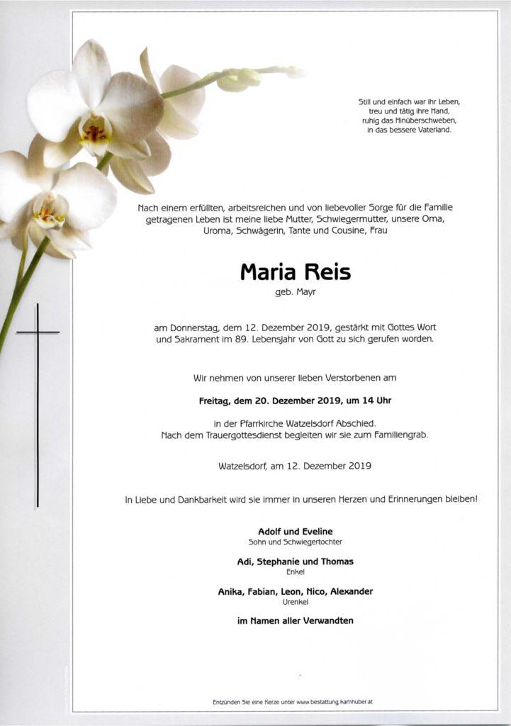 thumbnail of Parte Maria Reis