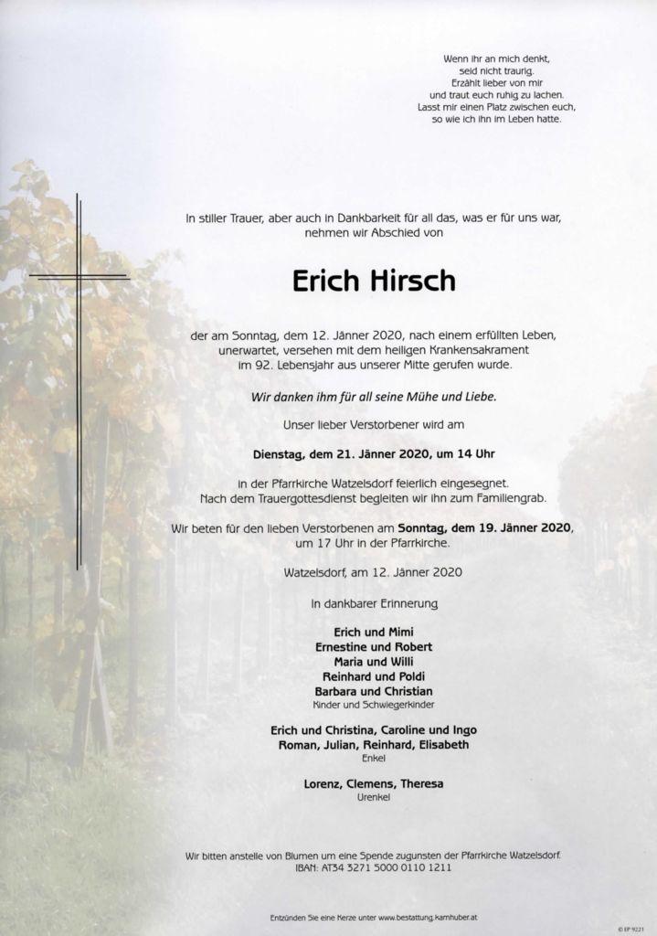 thumbnail of Parte Erich Hirsch
