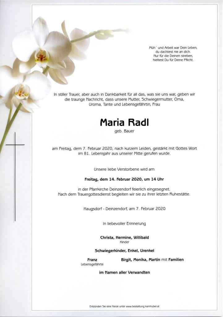 thumbnail of Parte Maria Radl