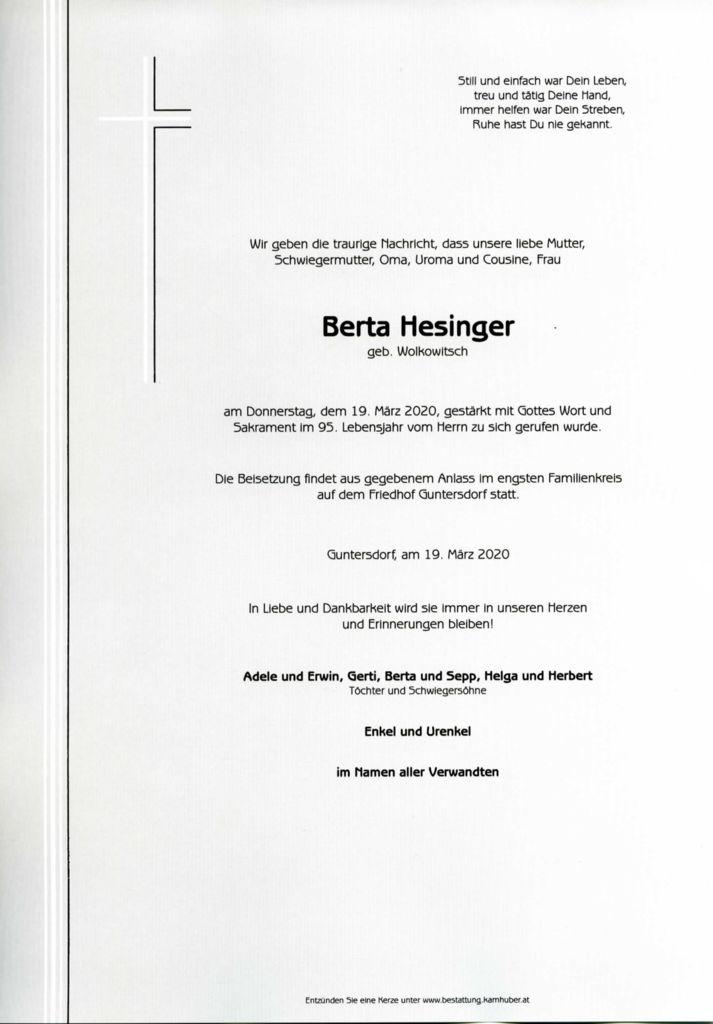 thumbnail of Parte Berta Hesinger