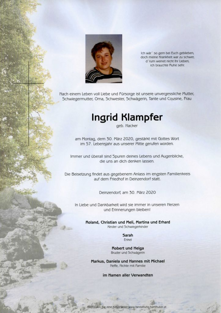 thumbnail of Parte Ingrid Klampfer
