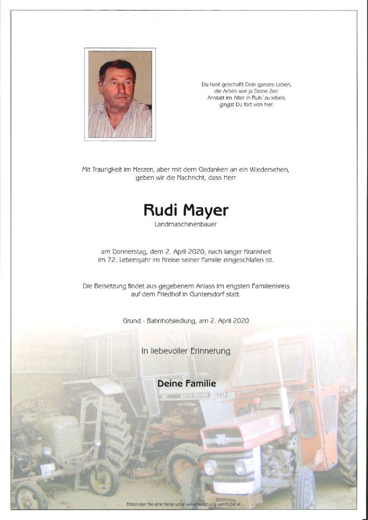thumbnail of Rudi Mayer