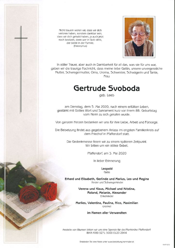 thumbnail of Parte Gertrude Svoboda