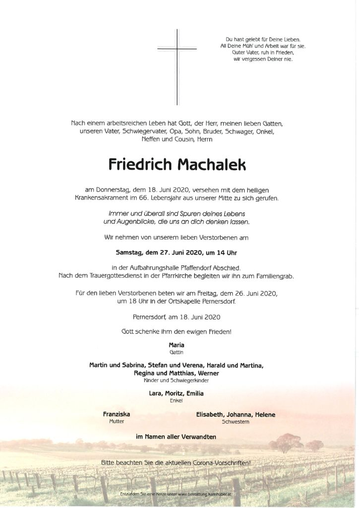 thumbnail of Parte Friedrich Machalek