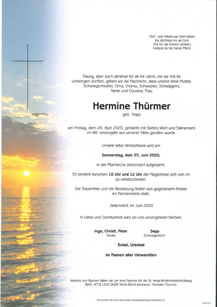 thumbnail of Parte Hermine Thürmer NEU