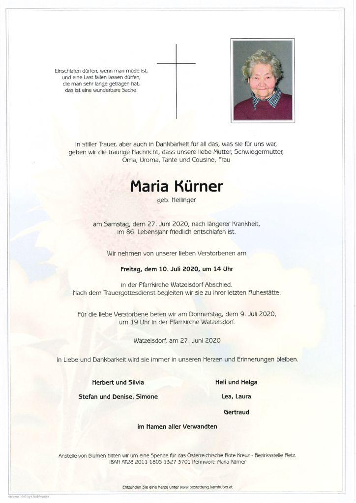 thumbnail of Parte Maria Kürner