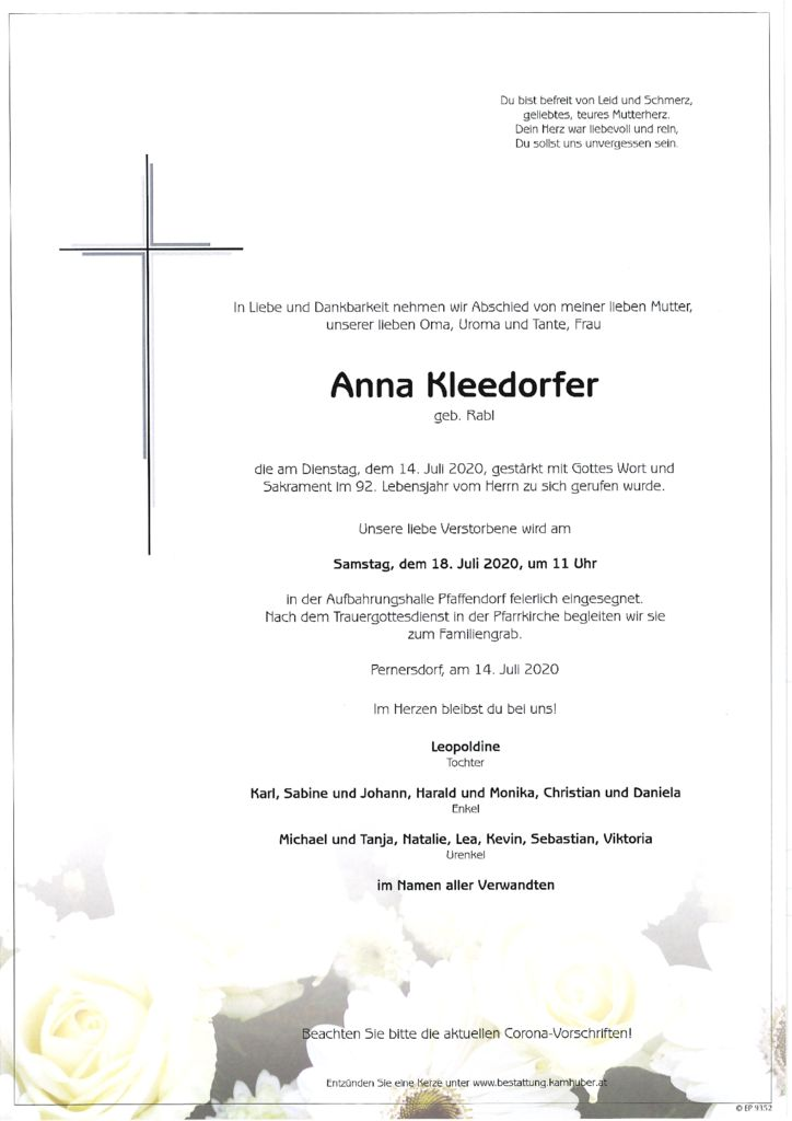 thumbnail of Parte Anna Kleedorfer