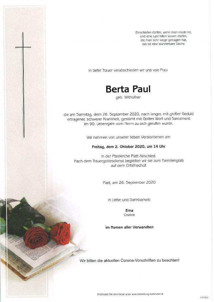 thumbnail of Parte Berta Paul