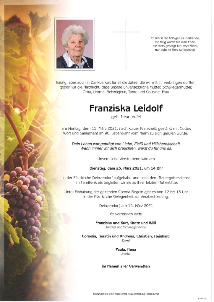 th bnail of Parte Franziska Leidolf