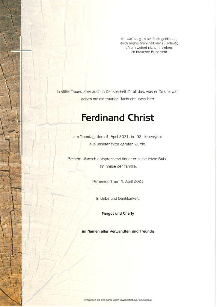 th bnail of Parte Ferdinand Christ