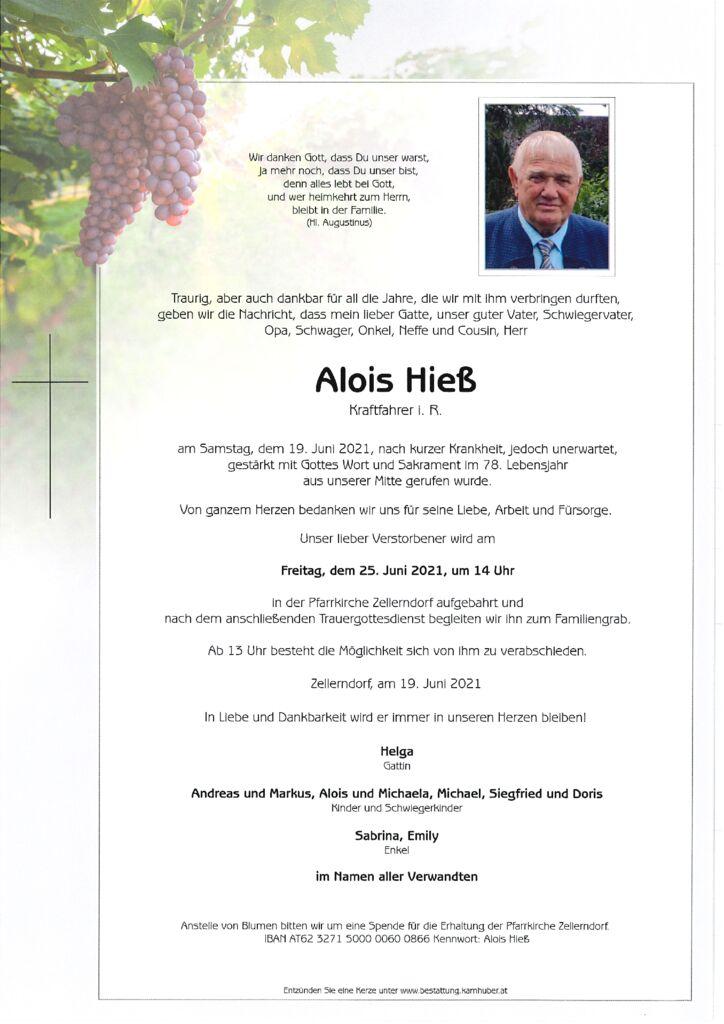 th bnail of Parte Alois Hieß